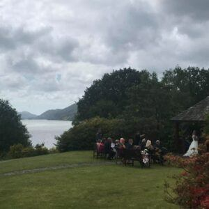 Windermere Wedding- with Bagpipes